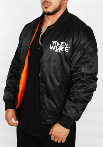 """Don't Sleep"" Bomber Jacket - Black - WOKE - 1"