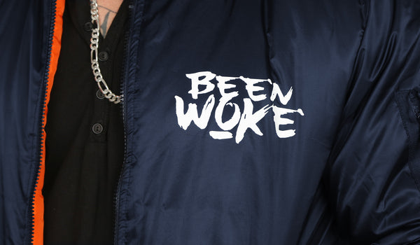 """Don't Sleep"" Bomber Jacket - Navy - WOKE - 2"