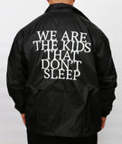 """Don't Sleep"" Coach Jacket"