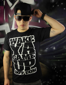 Wake Ya Game Up Black Tee - WOKE