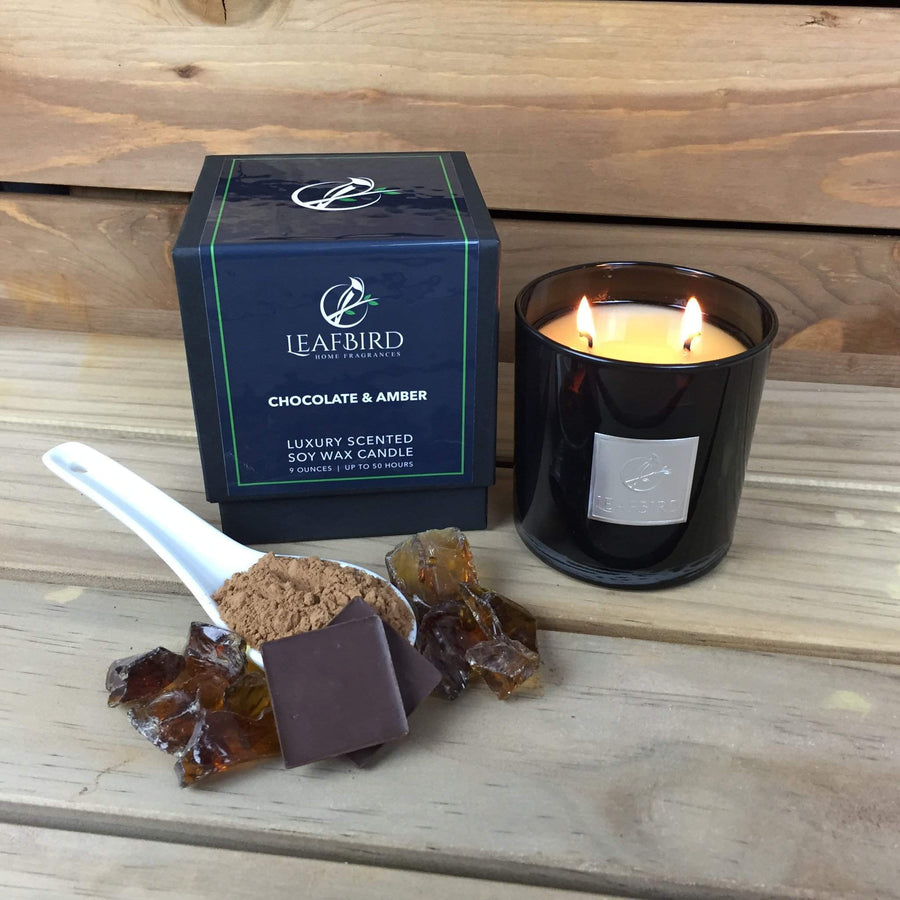 Soy Candle - Chocolate and Amber-