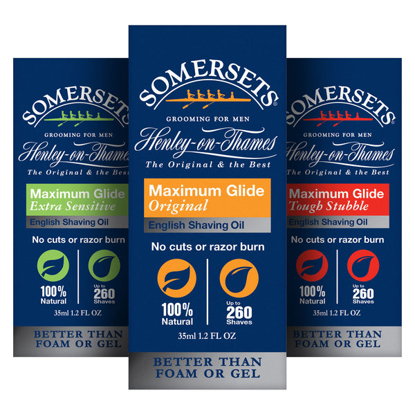 Somersets Shaving Oil Multi-Buy 3 Pack for Men (3 x 35ml/1.2fl.oz)