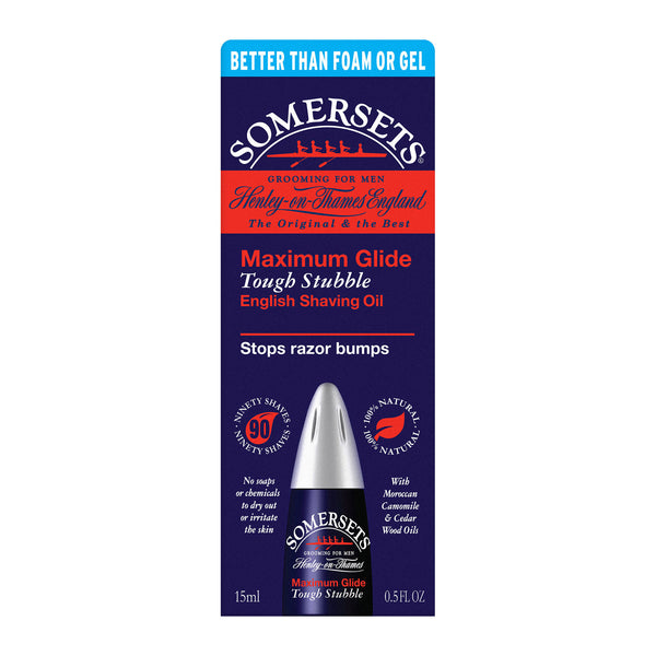 Somersets Maximum Glide Tough Stubble English Shaving Oil (15ml/0.5fl.oz)