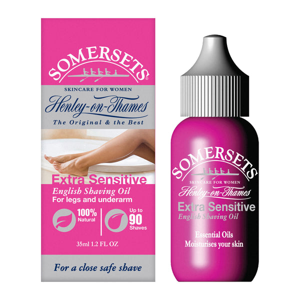 Somersets Women's Maximum Glide Extra Sensitive Shaving Oil for Legs and Underarm (35ml / 1.2fl.oz)