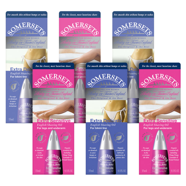 Somersets Women's Shaving Oil Multi-Buy 6 Pack (6 x 15ml/0.5fl.oz)