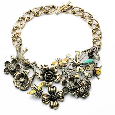BIRDS + BEES: Statement Necklace