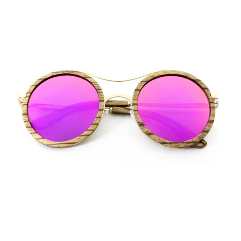 BIRDS + BEES: Pink Lense Sunglasses