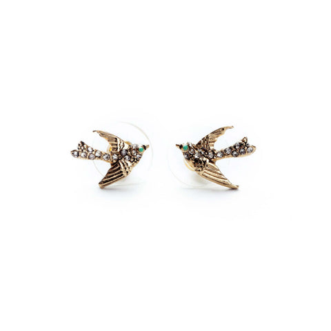 RILEY RAINES: Bird Stud Earrings