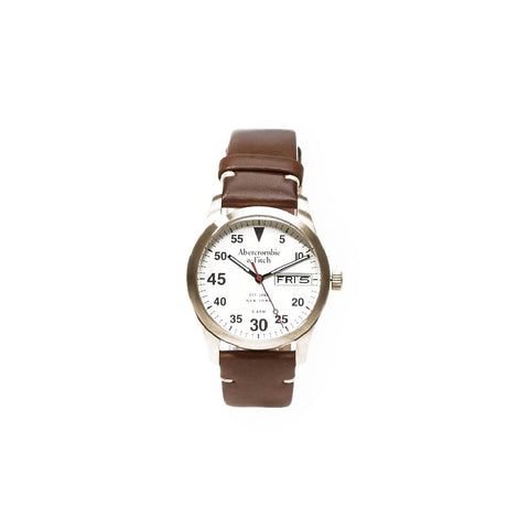 Abercrombie & Fitch: Leather Strap Watch