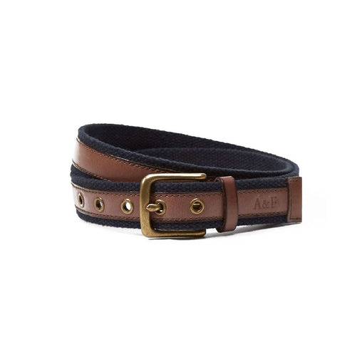 Abercrombie & Fitch: Canvas Leather Belt