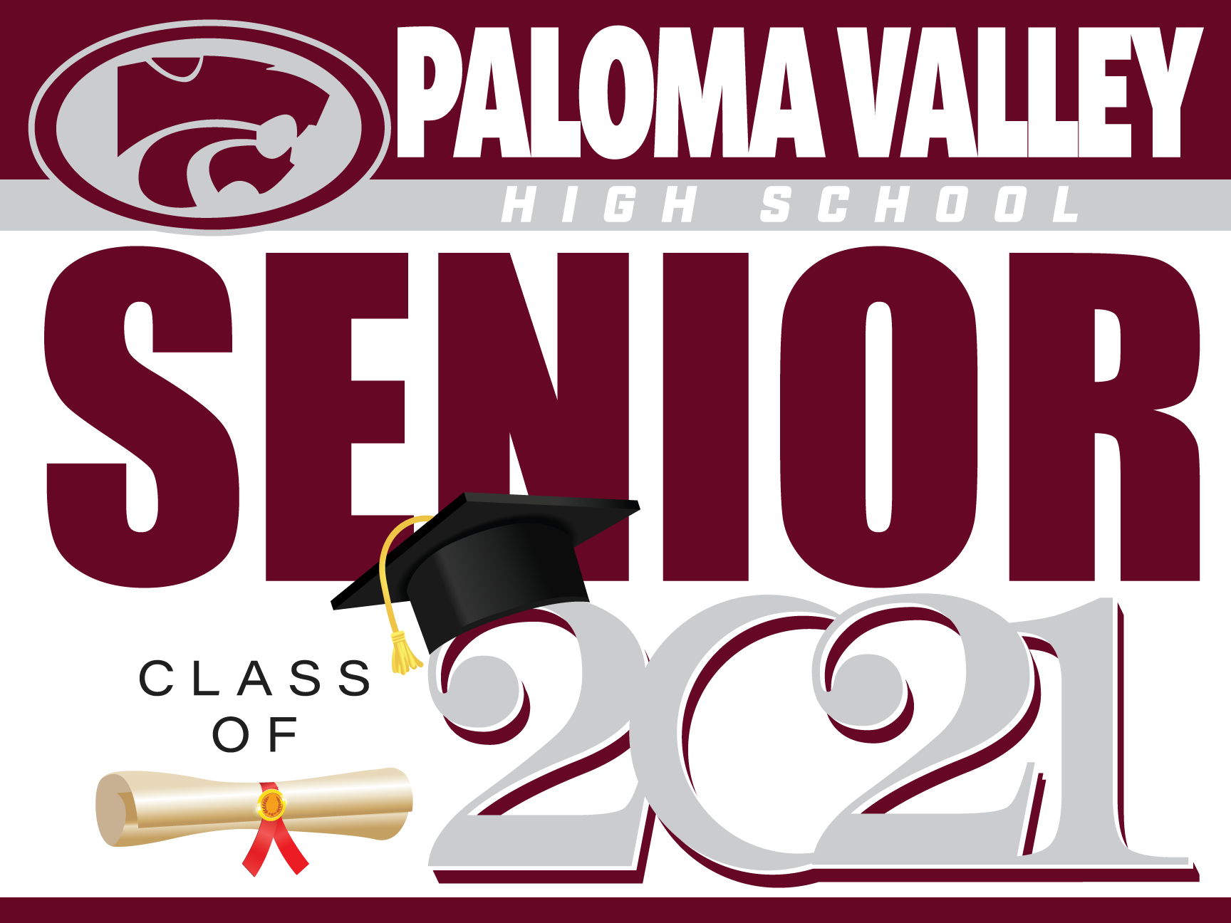 Paloma Valley HS Senior Yard Sign