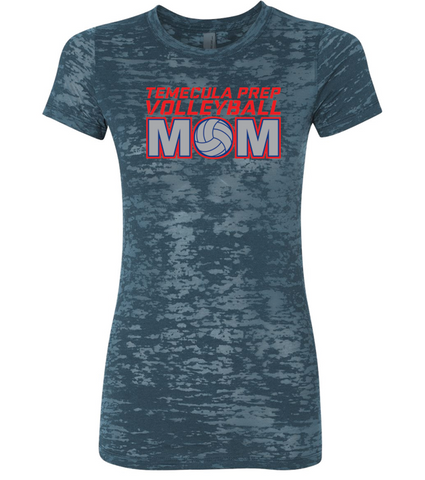 TPS Volleyball Women's Burnout Volleyball Mom Bling Shirt