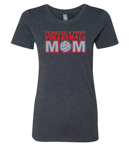 TPS Volleyball Women's Volleyball Mom Bling Shirt