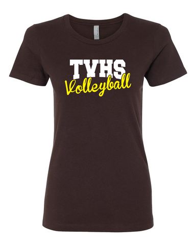 TVHS Girls Volleyball Chocolate Women's T-Shirt