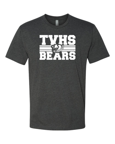 TVHS Girls Volleyball Charcoal Fitted Men's T-Shirts