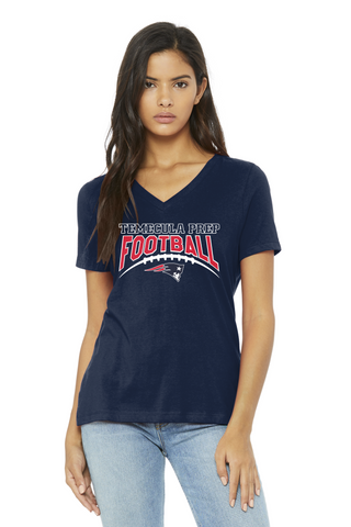 TPS Football Women's V-Neck Relaxed T-Shirt