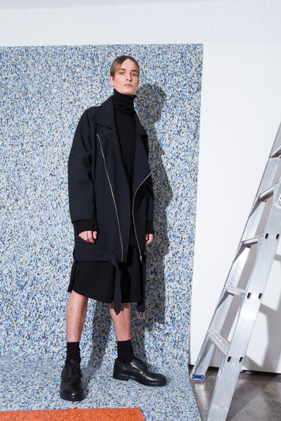 Bruise Pristine Coat // Army of Me Turtleneck // Smog Cutter Shorts