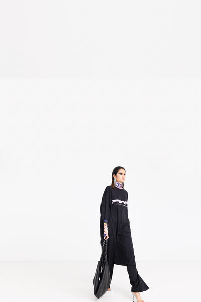 SPACE & TIME DRESS OVER 1999 POLY JERSEY TOP//SQUARE MILE PANT