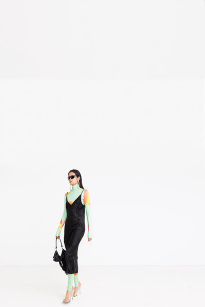 LUX LISBON - SHORT OVER 1999 POLY JERSEY TOP//TRINITY LEGGING