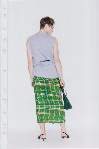 Porter Wrap Skirt - Warped Plaid