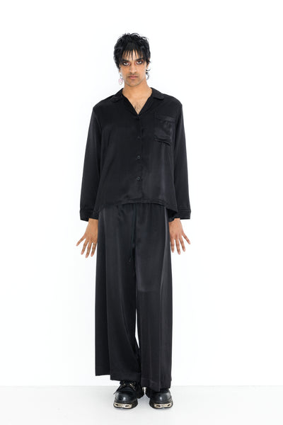 Afterglow Pyjama Shirt - Silk Satin