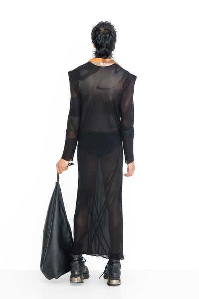 Deep Void Dress - Silk Georgette