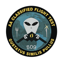"ANCIENT ASTRONAUT Mission Patch ""Gustatus Similis Pullus"""