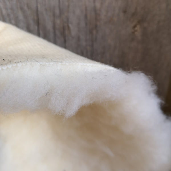 long pile 100% wool fleece on poly backing