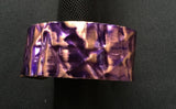 Purple form-folded copper cuff