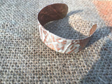Sandstone 1 inch form-folded copper cuff