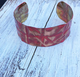 coral 1 inch form-folded copper cuff