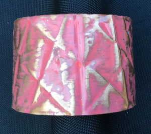 Coral 2 inch copper form-folded cuff