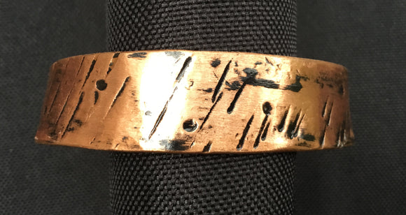 Black Mens Copper Cuff Bracelet