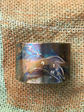 Spirit Horse Etched Copper Cuff Bracelet