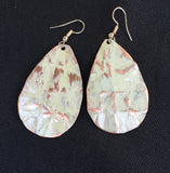 sandstone large teardrop form-folded earring