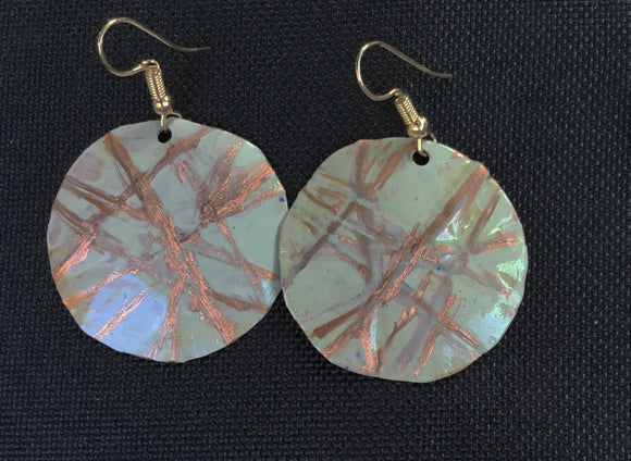 Sandstone Round Earrings