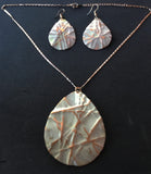 sandstone teardrop necklace earring set