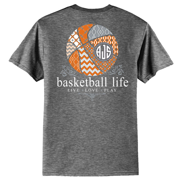 Basketball Life Custom Monogram T-Shirt