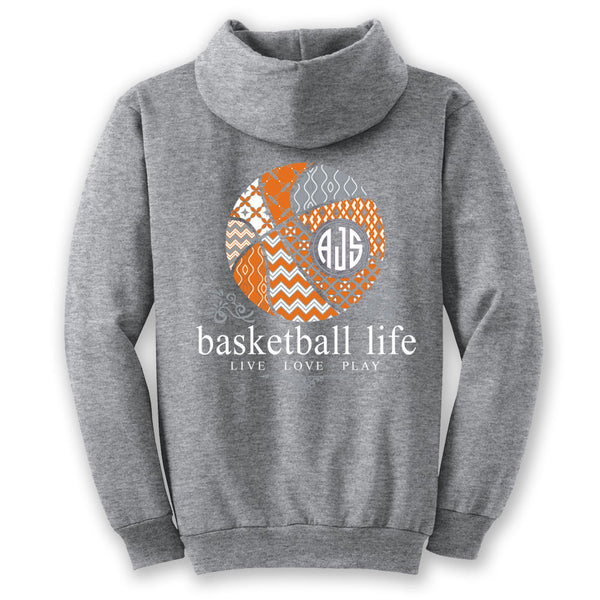 Basketball Life Custom Monogram Hoodie