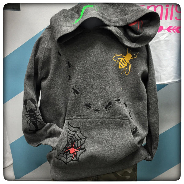 BUGS Hoodie Toddler Shirt with Custom Name on Back