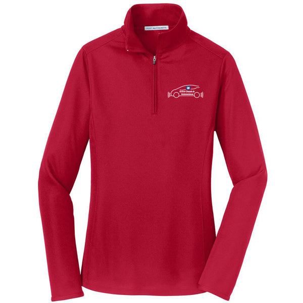 e27d33c7 EMBROIDERED GM Active Chassis Ladies Pinpoint Mesh 1/2 Zip Pullover – Shirt  Traveler