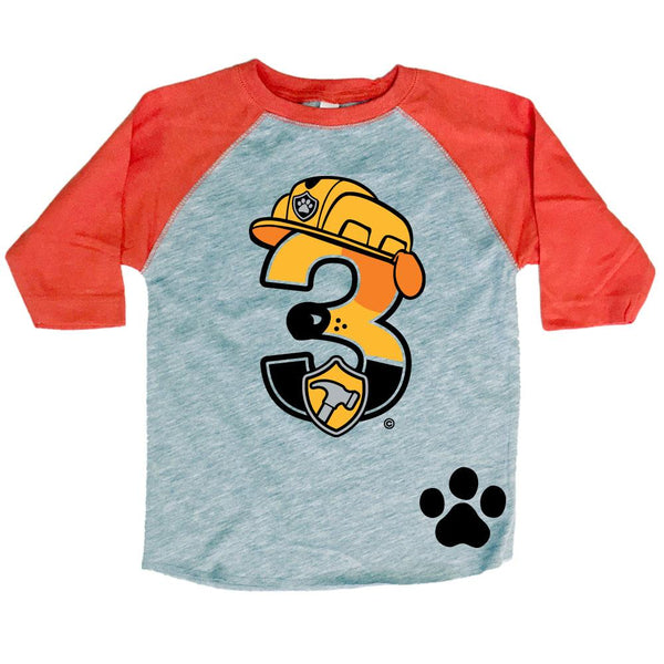 Age Memory Paw Patrol Birthday Shirt Rubble 3