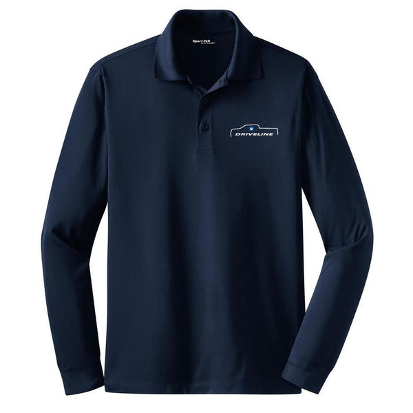 EMBROIDERED GM Driveline Mens/Unisex LONG Sleeve Wicking Polo