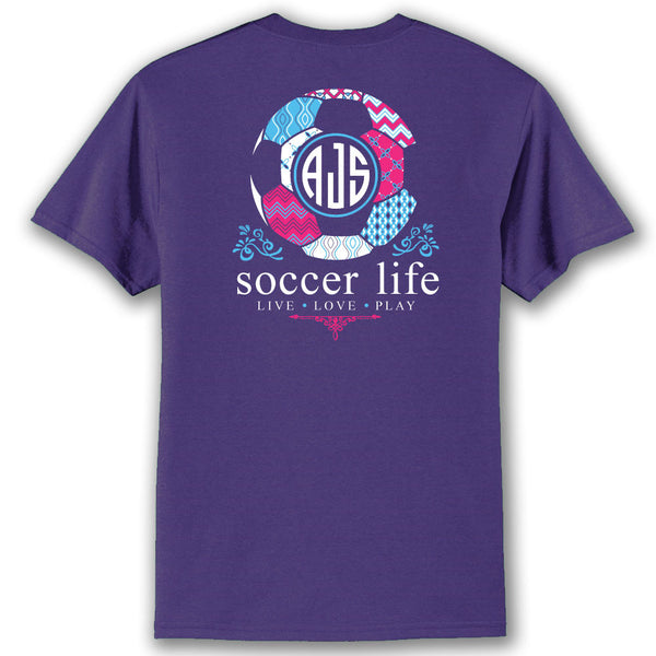 Soccer Life Custom Monogram T-Shirt