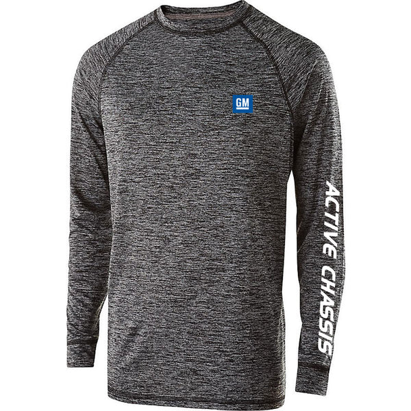 7b0a79b8 PRINTED GM Active Chassis Mens/Unisex Wicking LONG Sleeve
