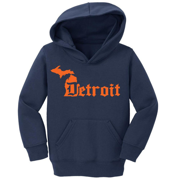 Detroit D Tigers Michigan State Hoodie with Custom Name