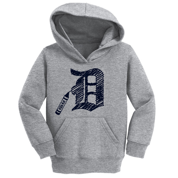 Detroit D Crayon Hoodie with Custom Name
