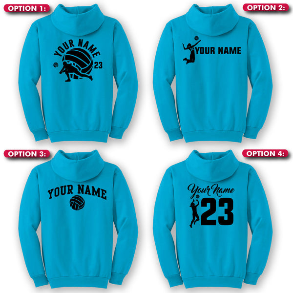 Hoodie Custom Volleyball Back