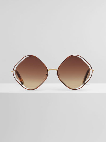 Chloé Poppy Diamond Havana Sunglass