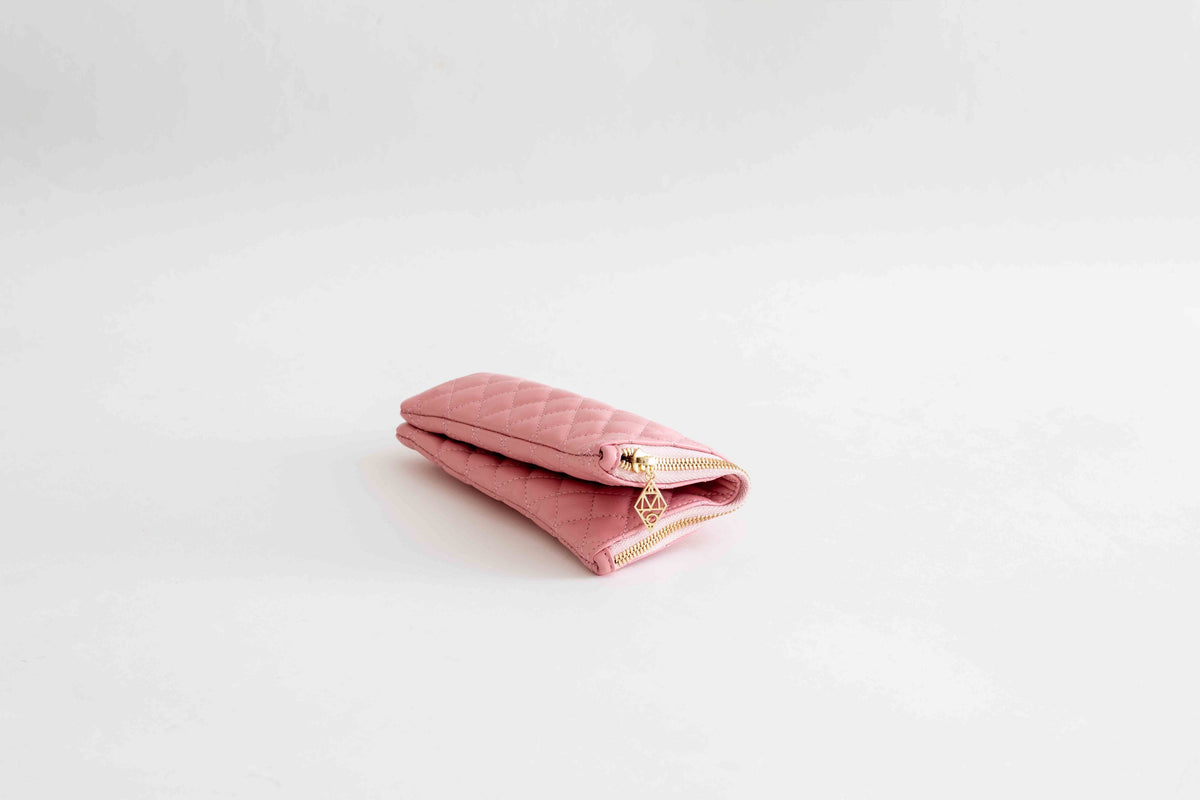 Quilted Pouch / Rose